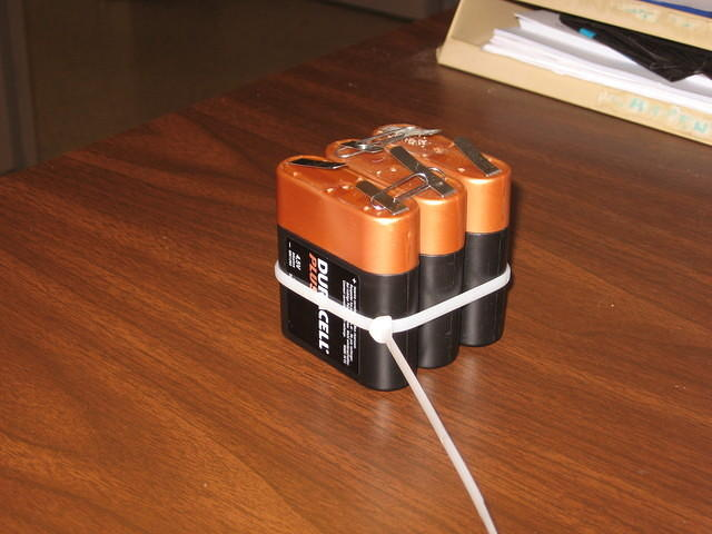 battery with paperclips