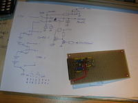 The charging/commutation circuit diagram, with the resulting PCB. This circuit is not tested yet... :-)